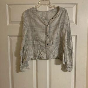 Cloth & Stone plaid top
